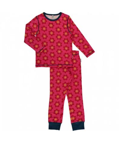 Maxomorra Pyjamas Set LS Anemone