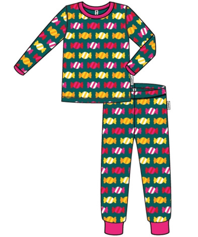 Maxomorra Pyjamas Set LS Candy