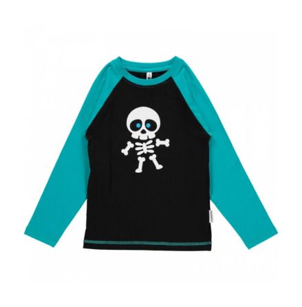 Maxomorra Top LS Front Print Skeleton