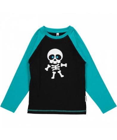 Maxomorra Top LS Front Print Skeleton