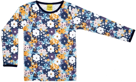 Duns LS Top Flower Blue