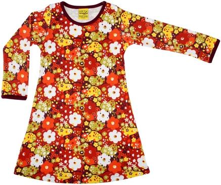 Duns LS Dress Flower Red