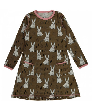 Maxomorra Dress LS Rabbit
