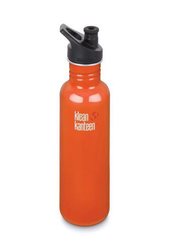 Klean Kanteen Vattenflaska Classic Sportkork 800 ml Orange Flame