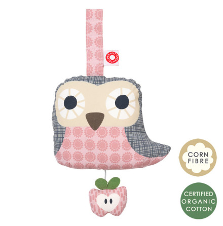 Franck & Fischer Else Owl Musical Toy Pink