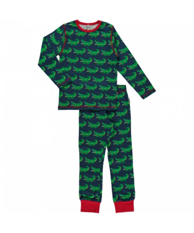 Maxomorra Pyjamas Set LS Crocodile