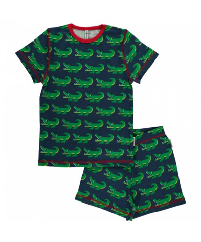 Maxomorra Pyjamas Set SS Crocodile