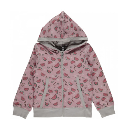Maxomorra Cardigan Hood Watermelon Love