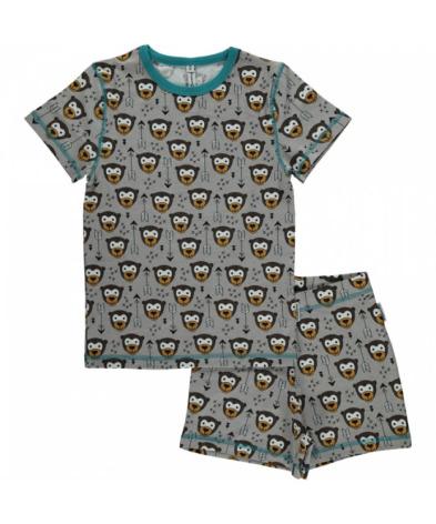 Maxomorra Pyjamas Set SS Little Arrow Monkey