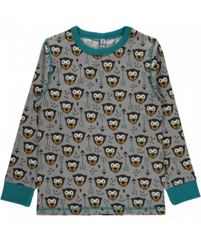 Maxomorra Top LS Little Arrow Monkey