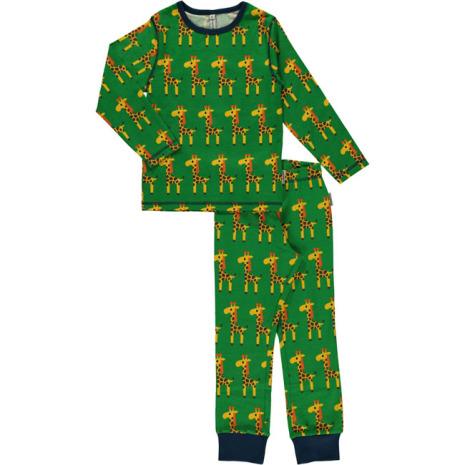 Maxomorra Pyjamas Set LS Giraffe