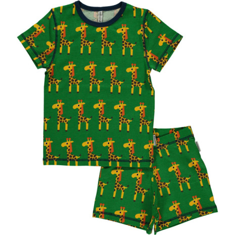 Maxomorra Pyjamas Set SS Giraffe