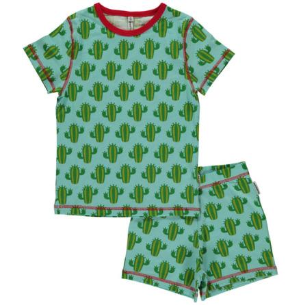 Maxomorra Pyjamas Set SS Cactus
