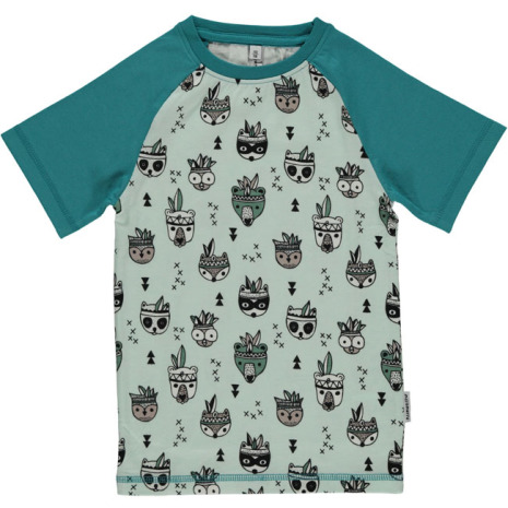 Maxomorra Top SS Slim Animal Mix