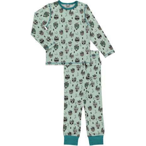 Maxomorra Pyjamas Set LS Animal Mix