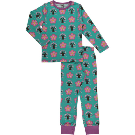 Maxomorra Pyjamas Set LS Cherry Blossom