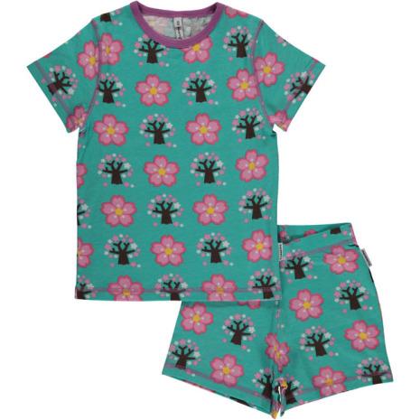 Maxomorra Pyjamas Set SS Cherry Blossom