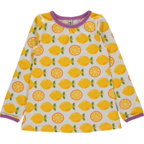 Maxomorra Top A-line LS Lemon