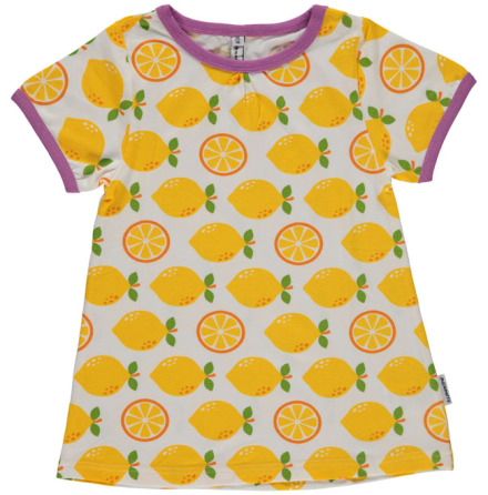 Maxomorra Top A-line SS Lemon
