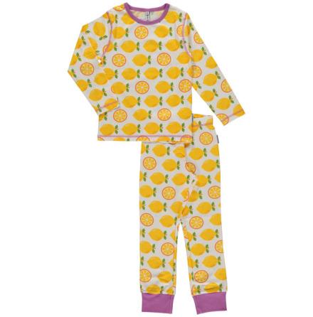 Maxomorra Pyjamas Set LS Lemon