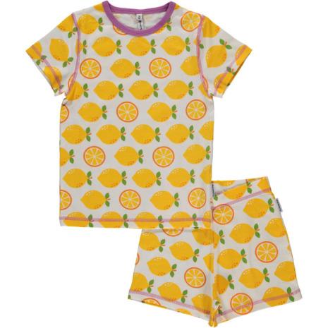 Maxomorra Pyjamas Set SS Lemon