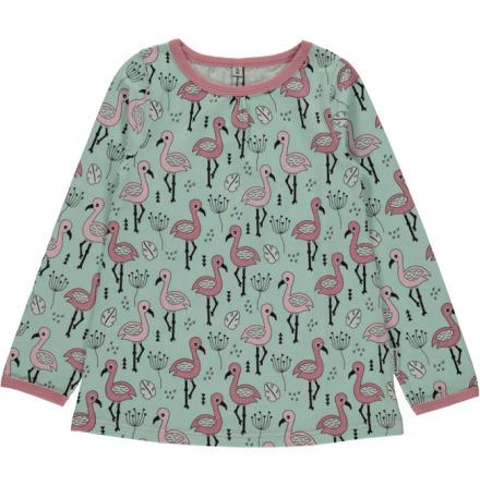 Maxomorra Top A-line LS Sweet Flamingo