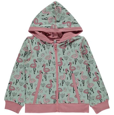Maxomorra Cardigan Hood Sweet Flamingo
