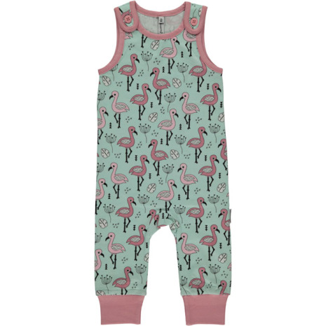 Maxomorra Playsuit Sweet Flamingo