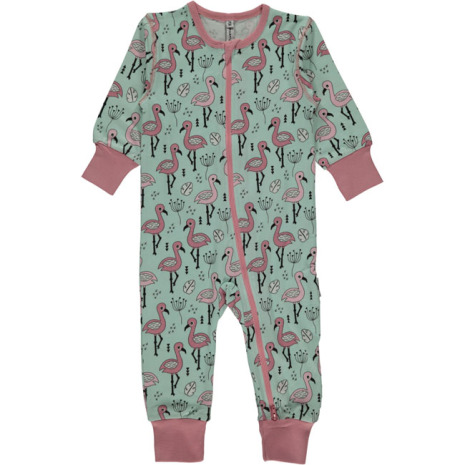 Maxomorra Pyjamas LS Sweet Flamingo