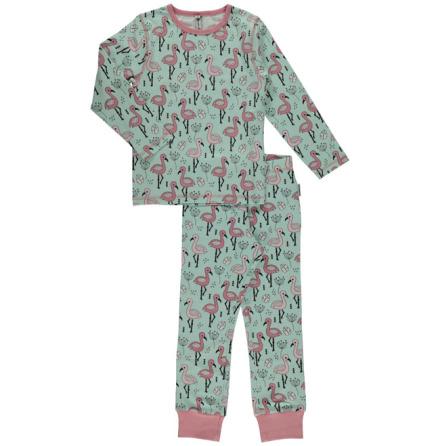 Maxomorra Pyjamas Set LS Sweet Flamingo