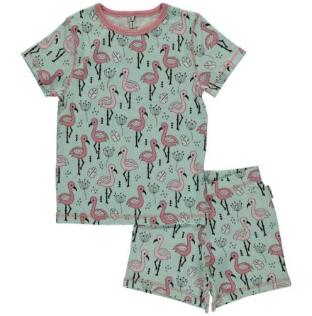 Maxomorra Pyjamas Set SS Sweet Flamingo