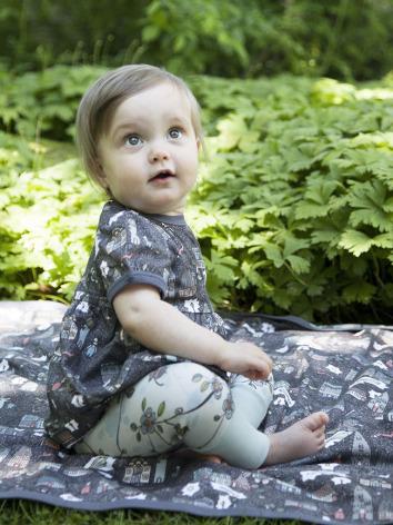 Modeerska Huset Babyleggings Monkey Business