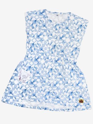 Modeerska Huset Dress Love Tiles