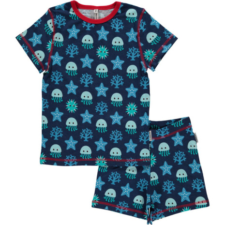 Maxomorra Pyjamas Set SS Deep Sea