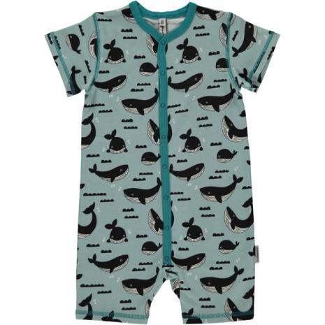 Maxomorra Pyjamas SS Whale Ocean