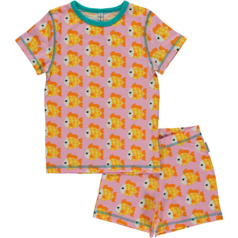 Maxomorra Pyjamas Set SS Goldfish
