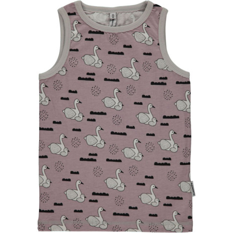 Maxomorra Tank Top Swan Baby Pond