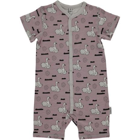Maxomorra Pyjamas SS Swan Baby Pond