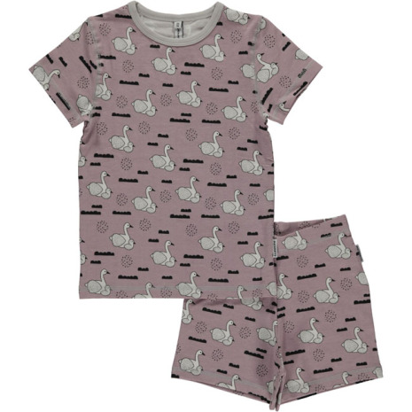 Maxomorra Pyjamas Set SS Swan Baby Pond