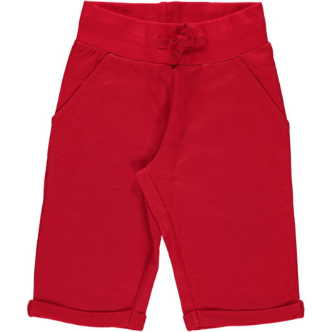 Maxomorra Sweatshorts Knee Red