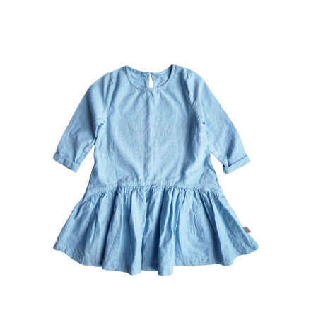 By Heritage Lovisa dress solid chambray blue