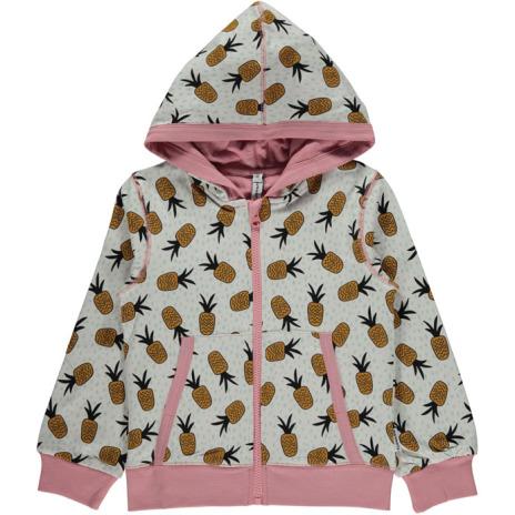 Maxomorra Cardigan Hood Pineapple spots
