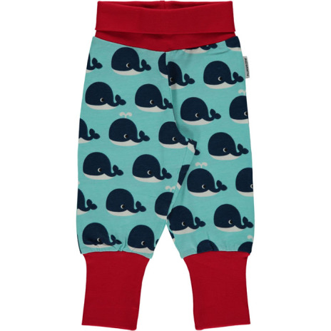 Maxomorra Pants Rib Whale
