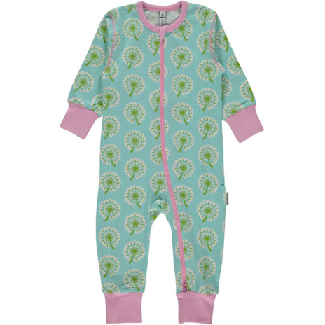 Maxomorra Rombersuit Zip LS Dandelion