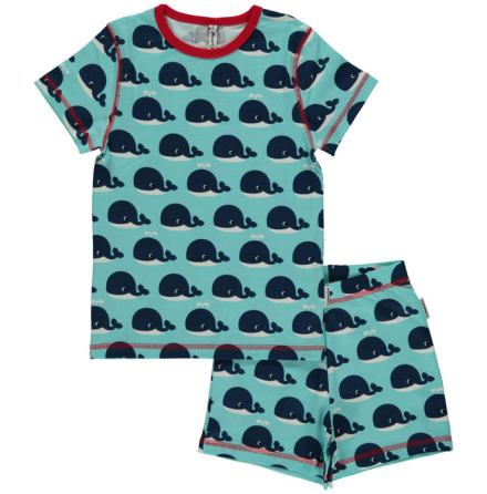 Maxomorra Pyjamas Set SS Whale