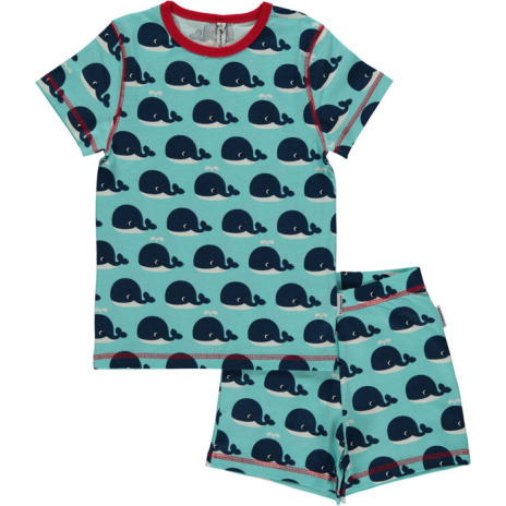 Maxomorra Pyjamas Set SS Whale