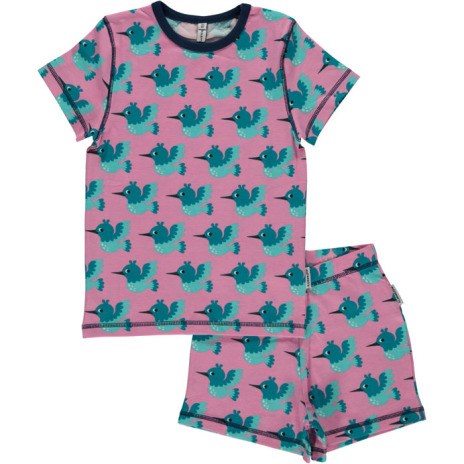 Maxomorra Pyjamas Set SS hummningbird