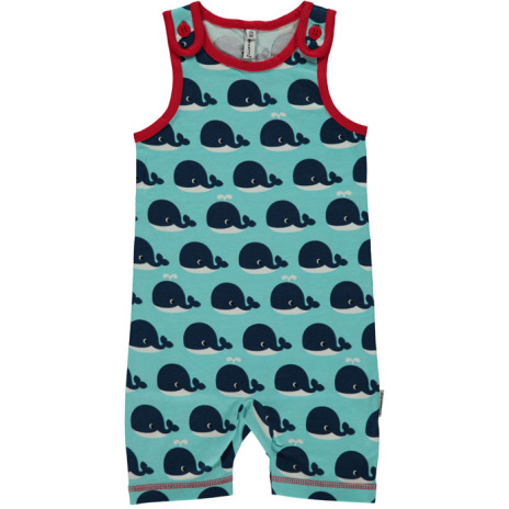 Maxomorra Playsuit Short Whale