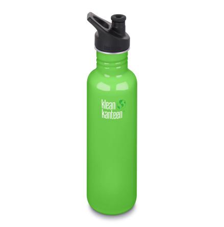 Klean Kanteen Vattenflaska Classic Sportkork 800 ml spring green
