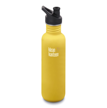 Klean Kanteen Vattenflaska Classic Sportkork 800 ml Lemon Curry